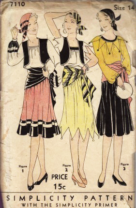 1930s gypsy costume pattern