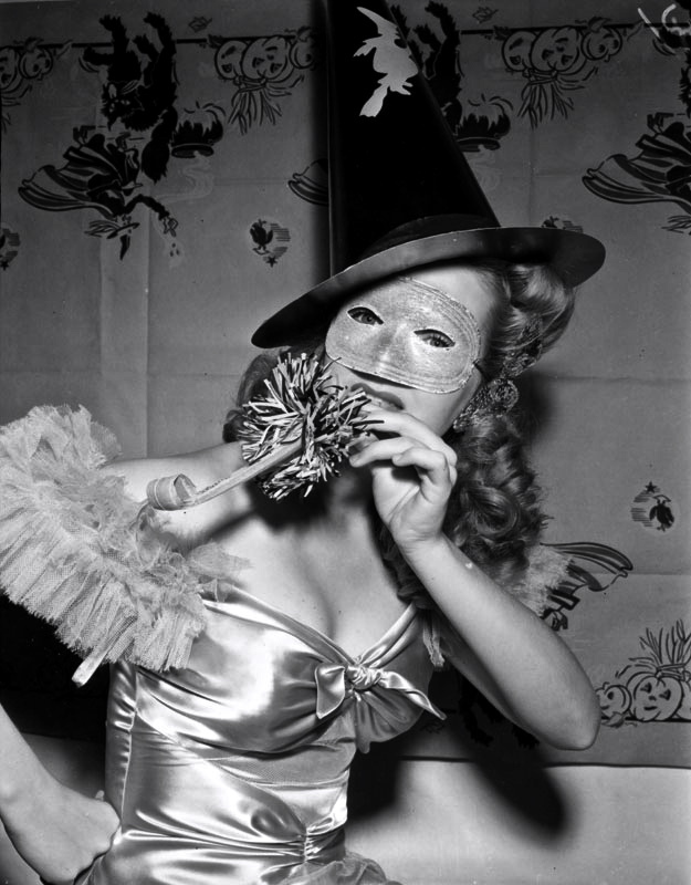 halloween hollywood reveler, carol winter, 1940