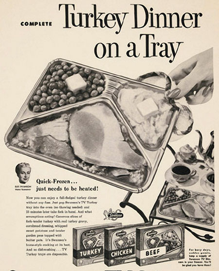vintage TV dinner ad for Turkey dinner