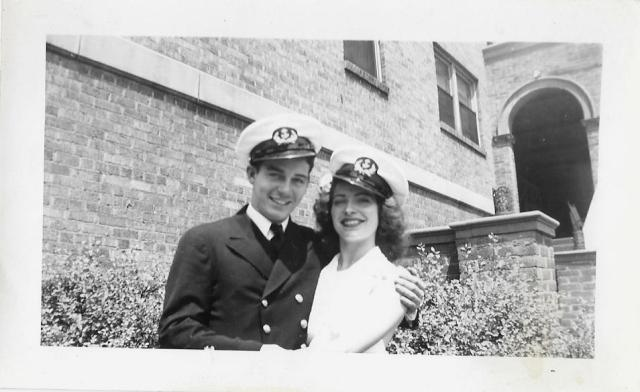 1940s Navy couple vintage image