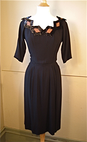 Howard Greer 1940s Cocktail Dress
