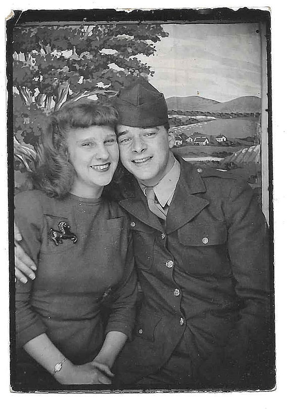1940s image of soldier and woman