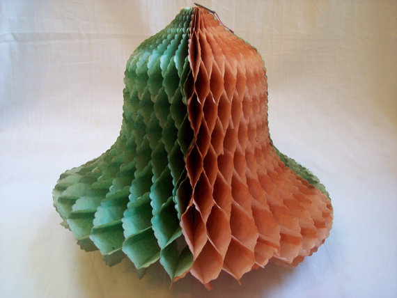 Vintage 1940s Honeycomb bell Christmas Decoration