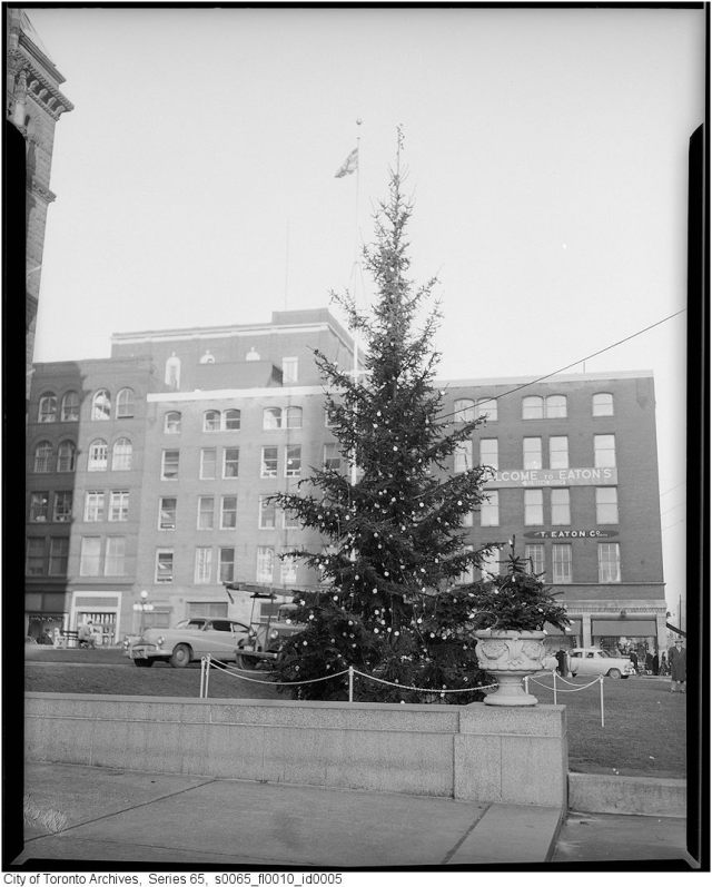 Old City Hall Christmas Tree 1950s