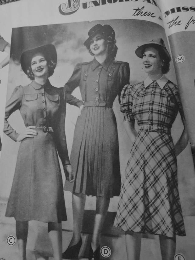 1940 1941 Women's Fall Winter Dresses