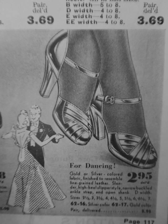 1940s women's dance shoes