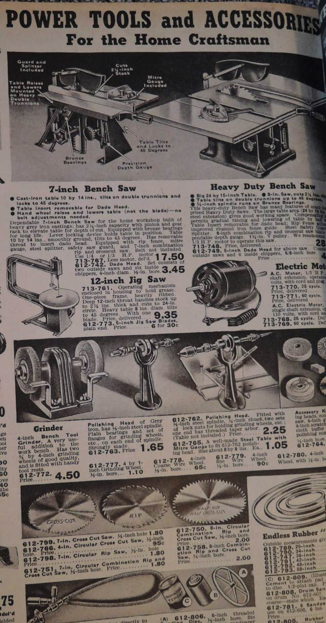 Machinery from 1940 Fall winter Eatons Catalog