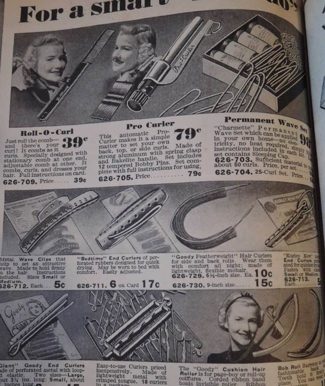 1940, 1941 women's hair styling accessories from Eatons Catalogue