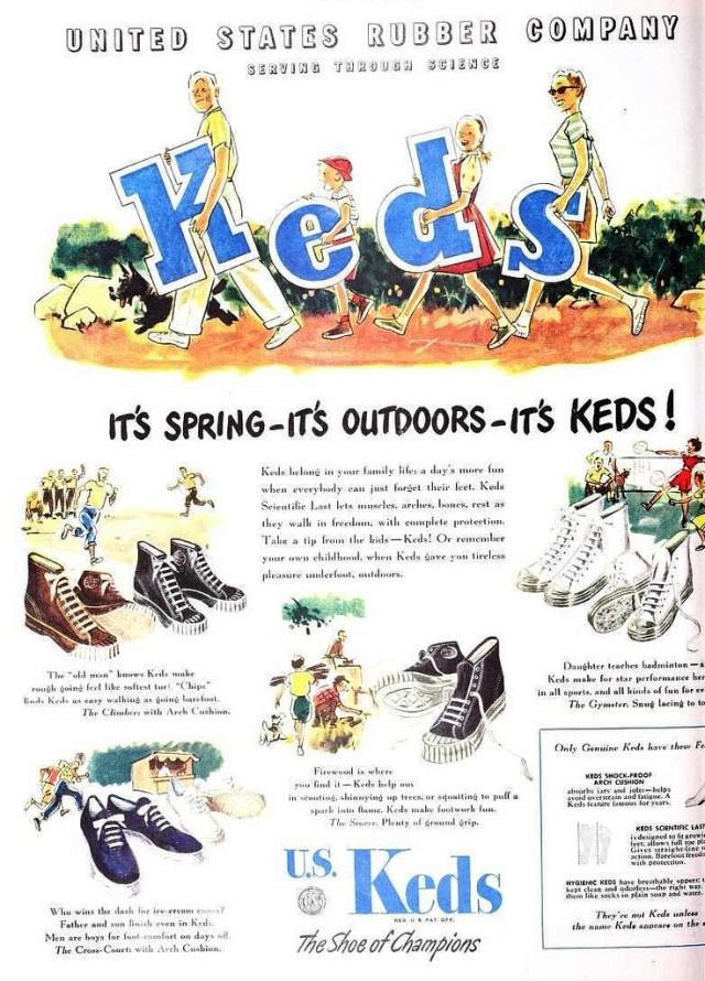 Keds, May 1947 vintage advertising