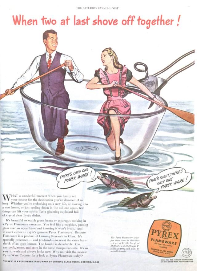 1940s pyrex vintage ad