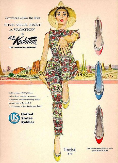 1950s Kedettes Vintage Ad Keds