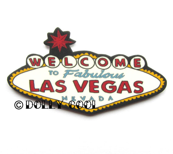 Vegas sign brooch
