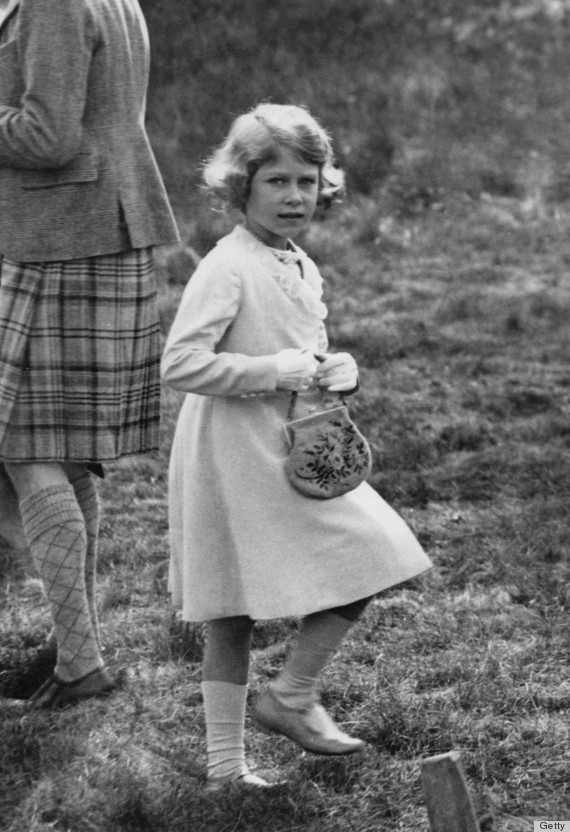 The future Queen Elizabeth II at Abergeldie Castle in Scotland at the age of seven, 1933.