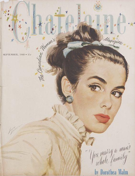 1948 винтаж chatelaine обложка журнала