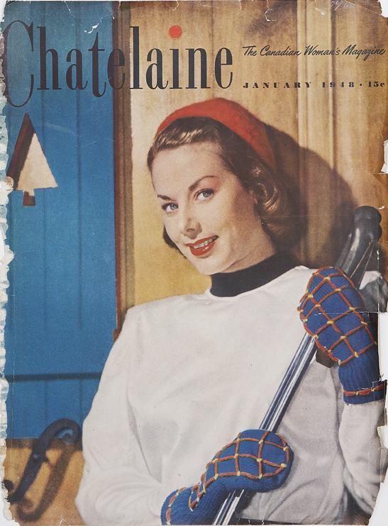 January 1948 Chatelaine Vintage magazine cover