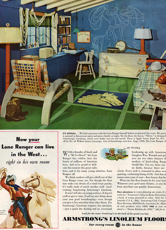 1940s Linoleum floor ad armstrongs