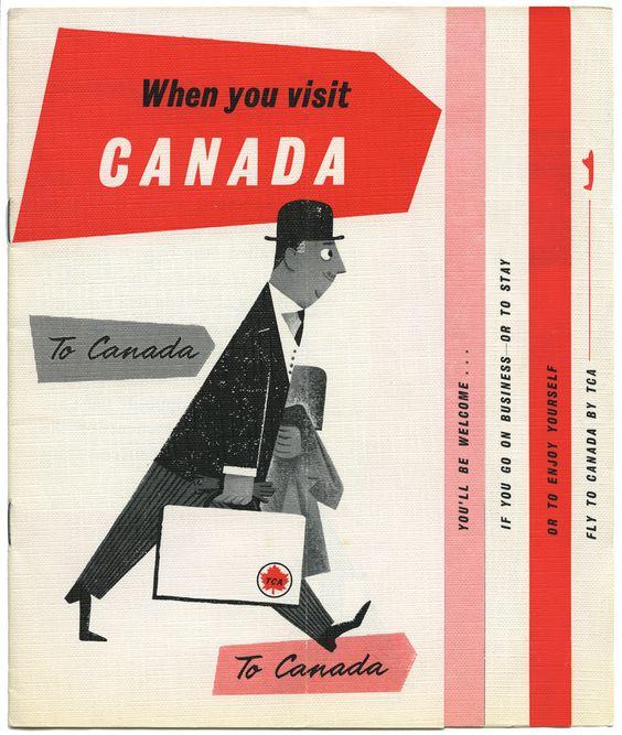 vintage Canada image poster