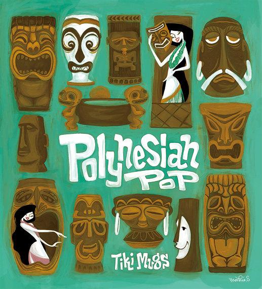 Polynesian pop, Tiki Mug Poster