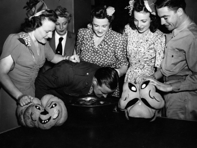 Halloween party for U.S. servicemen 1943