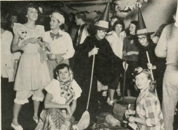 Halloween party, Mars Hill College, 1951