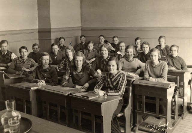 1930s Teenagers in School vintage Image