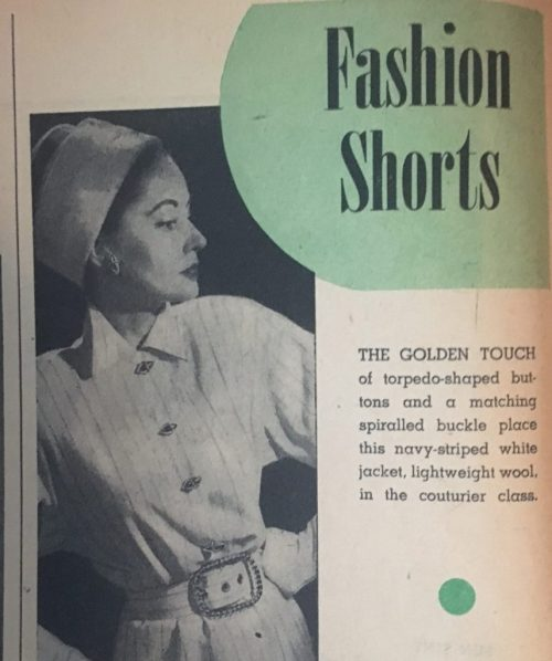 1947 Fashion Tips for Women