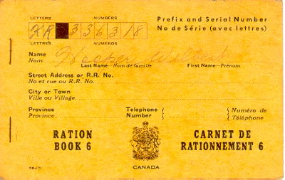 Canadian WW2 Ration Book