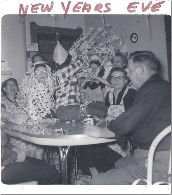 1950s vintage new years eve party image