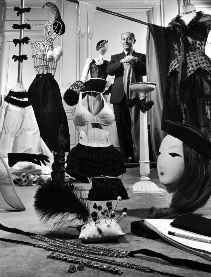 Designer Christian Dior in his Paris salon, 1948
