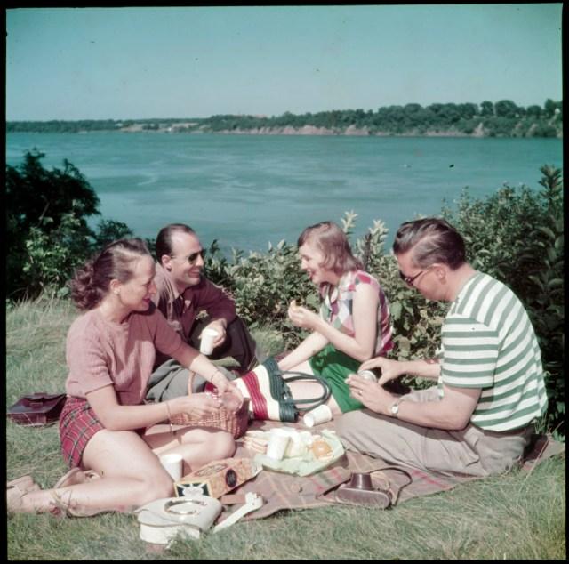 1950s Niagara Falls vintage picnic image