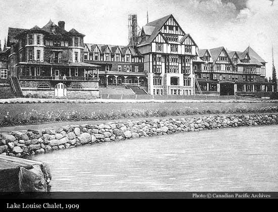Lake Louise Chalet Vintage Image 1909
