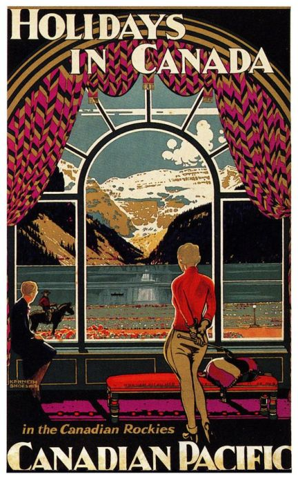 Vintage 1920s Canadian Travel Poster