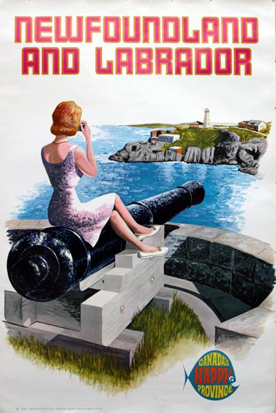 newfoundland-labrador vintage travel poster