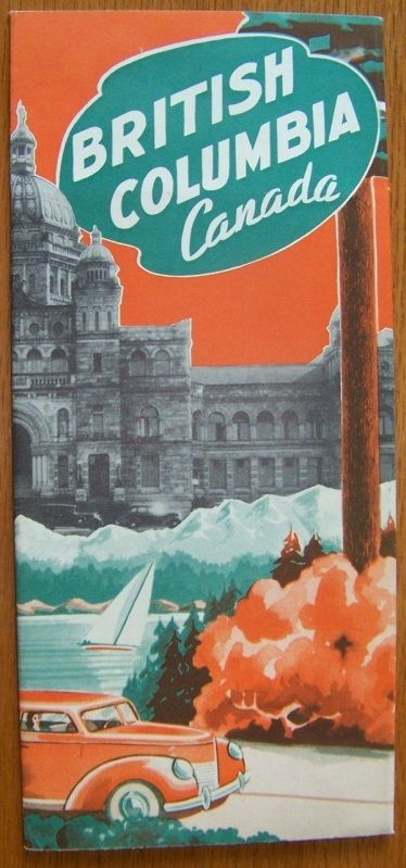 vintage british columbia map cover
