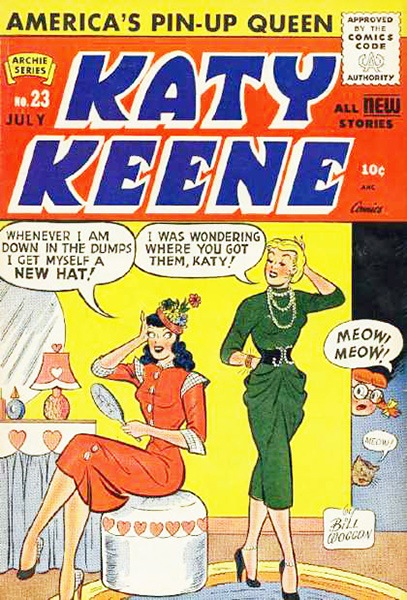 1940s katie keene comic book cover