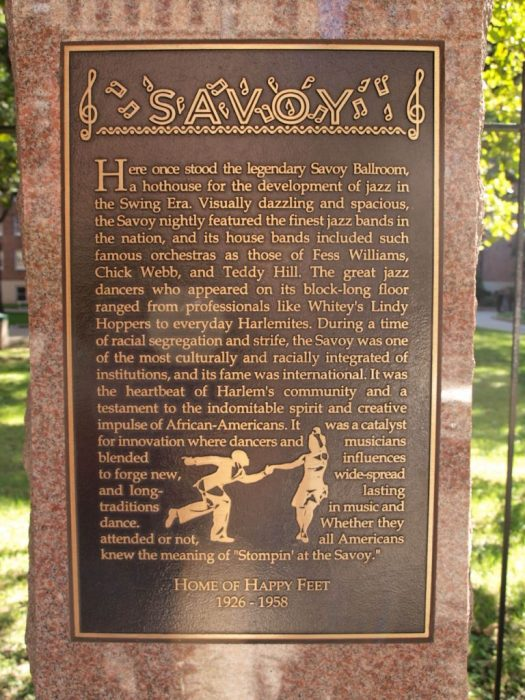 The Savoy Ballroom Harlem Plaque, NYC