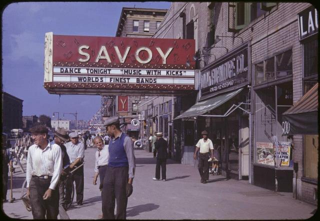 savoy ballroom colour vintage image