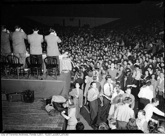 woody herman 1945 maple leaf gardens toronto playing for a big dance