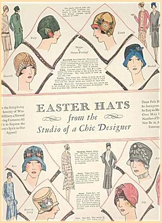 1928 Easter Hats vintage ad