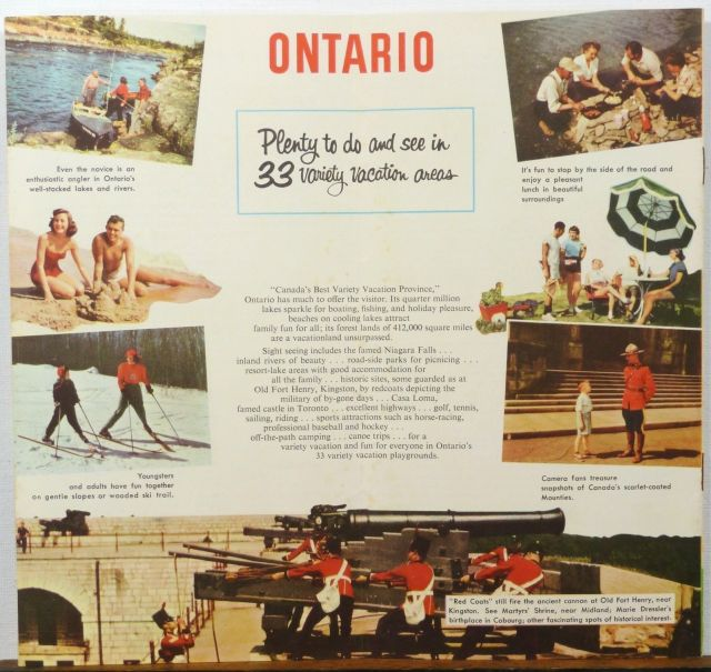 1950s Vintage Ontario Travel Brochure