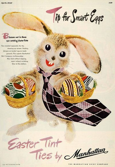 Easter Tint Ties by Manhattan - 1947 advertisement