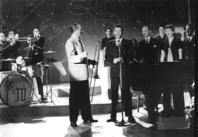 Frank Sinatra and Tommy Dorsey 1940s vintage image