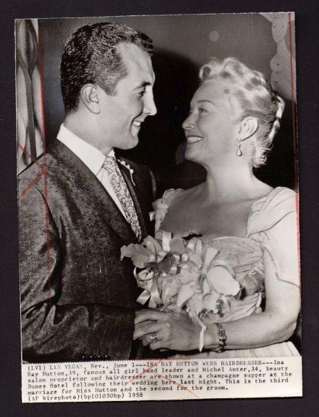 Ina Ray Hutton marriage photo 1950s