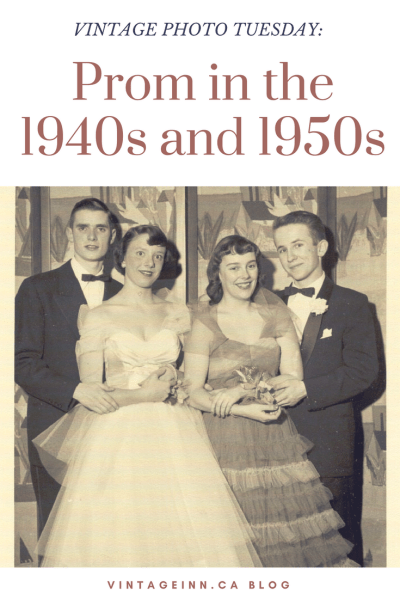 Prom in the 1940s and 1950s Vintage Photos