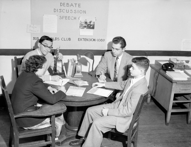 University of chicago debate group 1950s