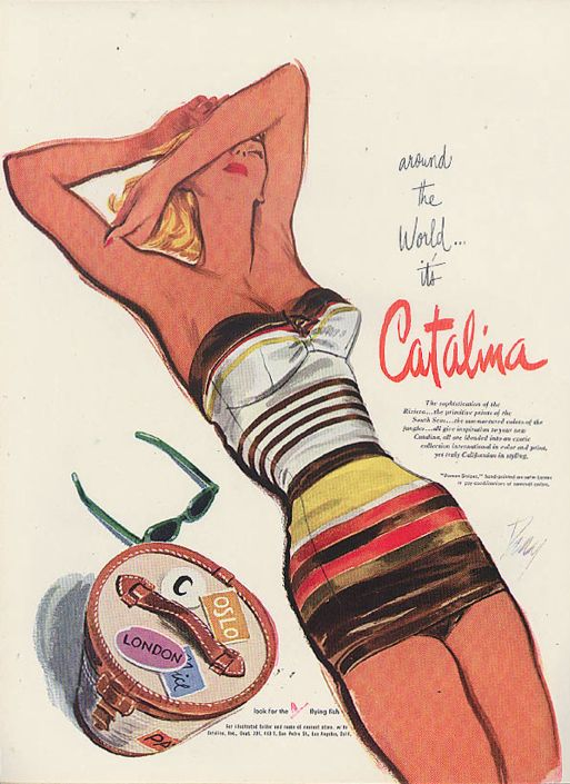 1951 vintage catalina swimsuit ad