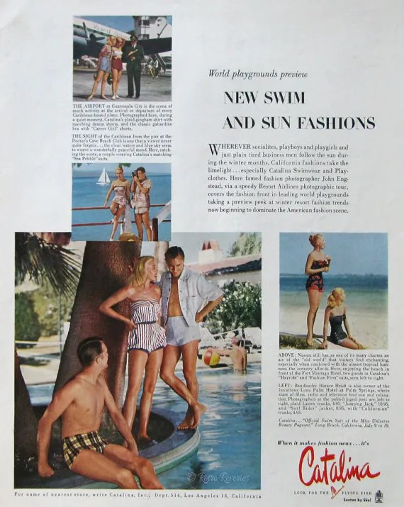 1953 Catalina vintage swimsuit ad