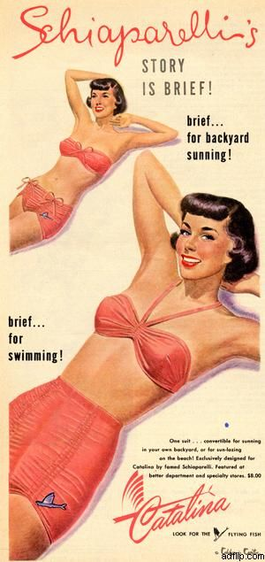 Catalina vintage bathing suit / swimsuit ad, 1949 advert