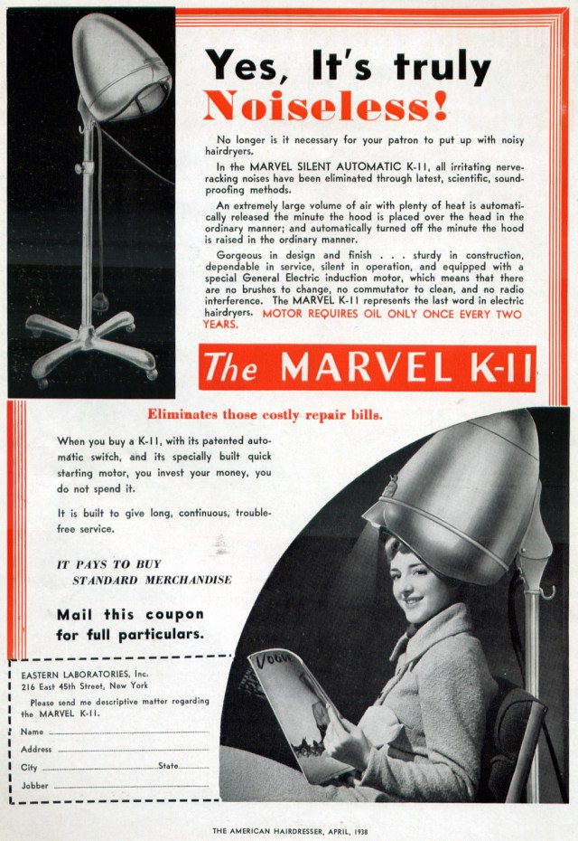 1938 vintage advertisement for hood hair dryers