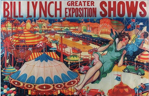 Bill Lynch Carnival show vintage poster